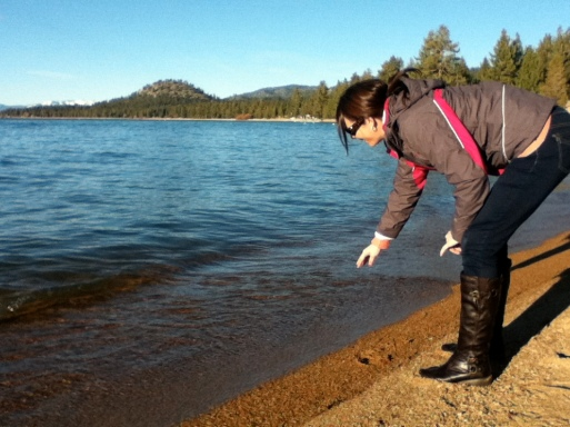 Feeling the pebbles in South Lake Tahoe