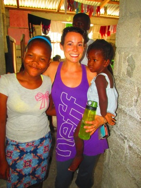 My girls and I in Haiti